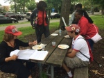 hot dogs and burgers in Cobbs Creek park