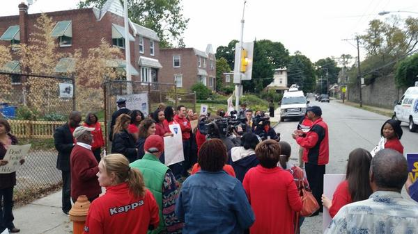 Rally at John B. Kelley Elementary in Germantown
