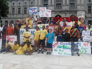 Occupation in Harrisburg in June demanding a fair budget